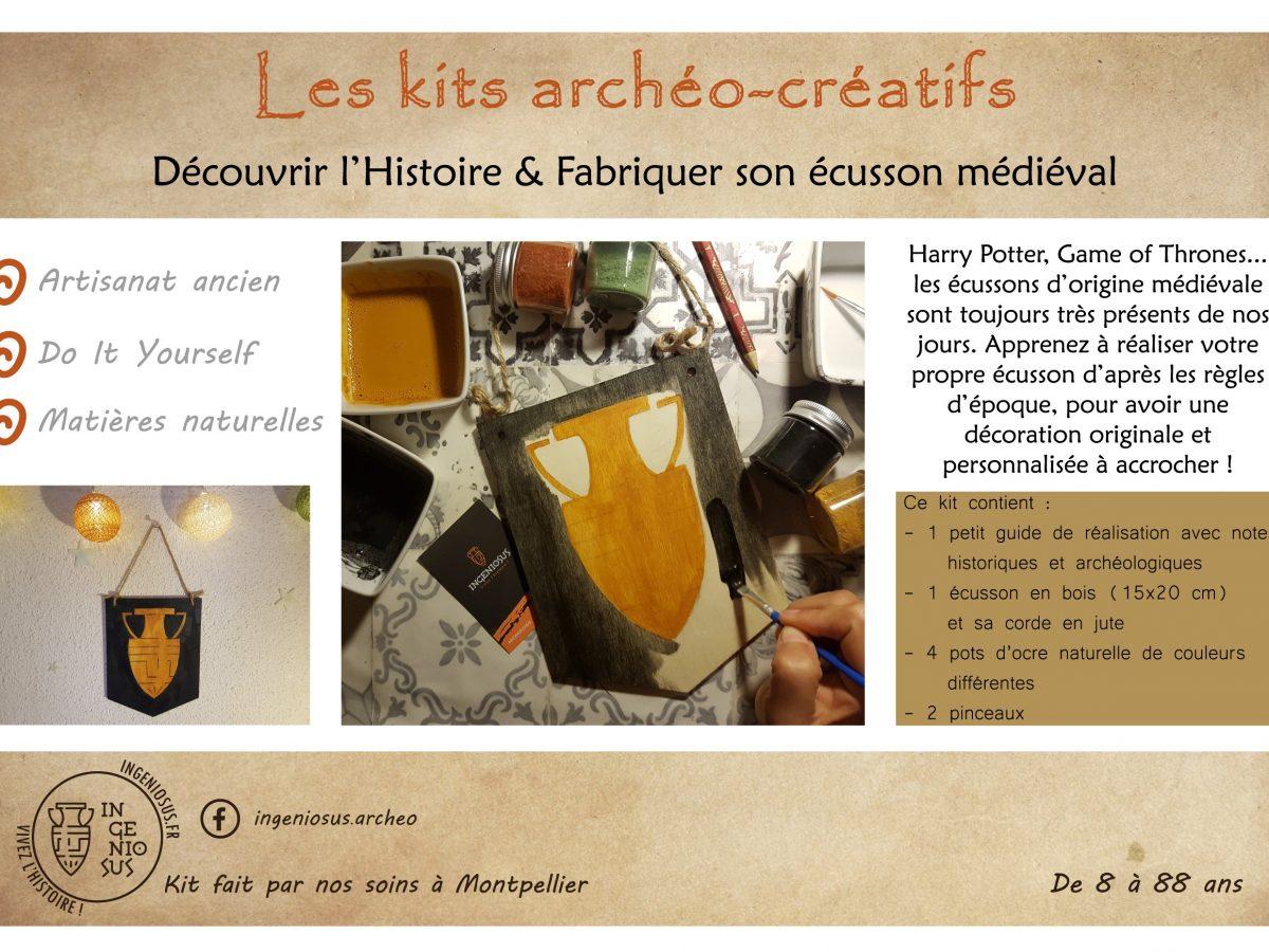 Kit archéo-créatif : fabriquer son écusson médiéval à suspendre