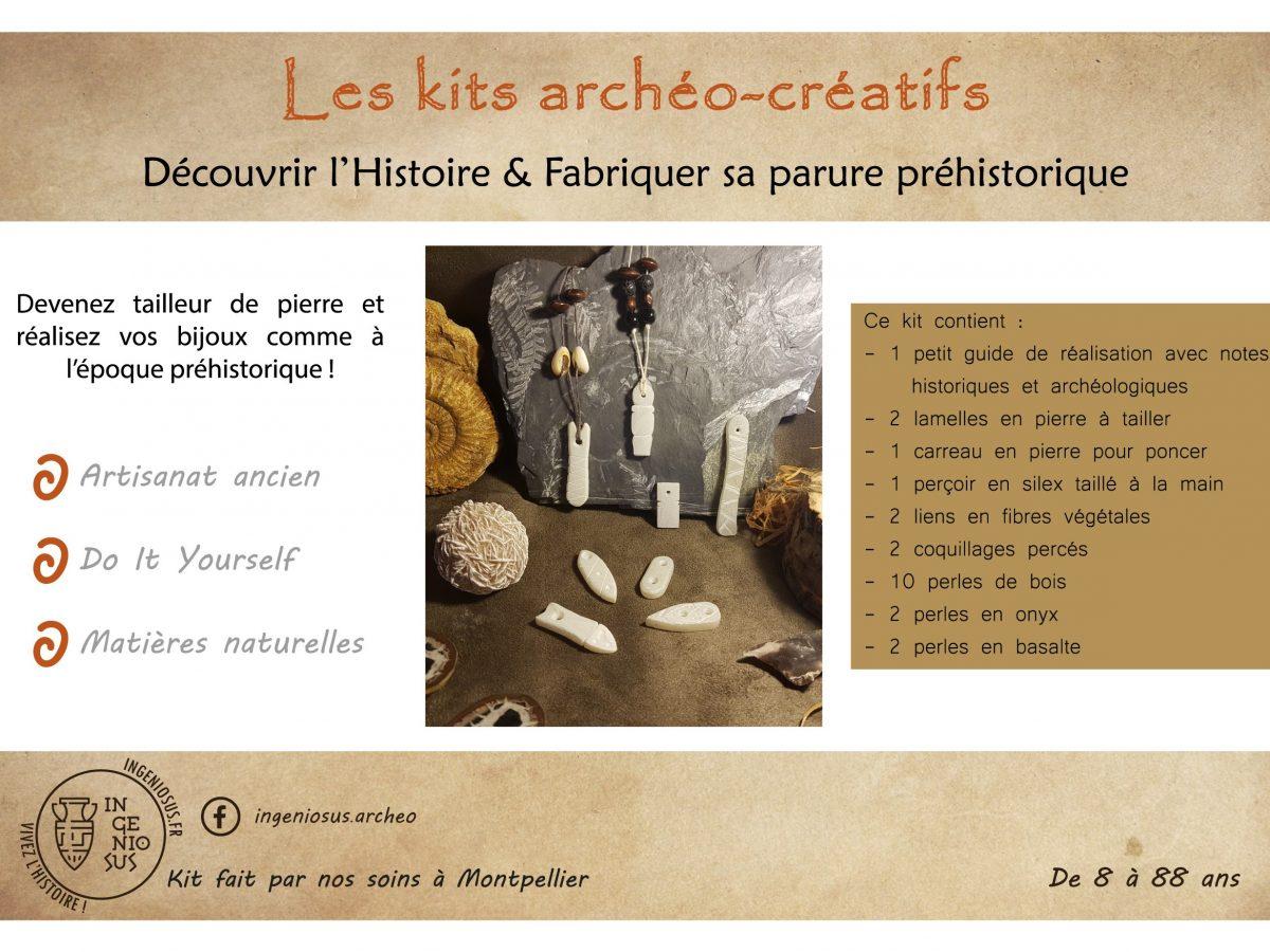 Kit archéo-créatif : fabriquer sa parure préhistorique